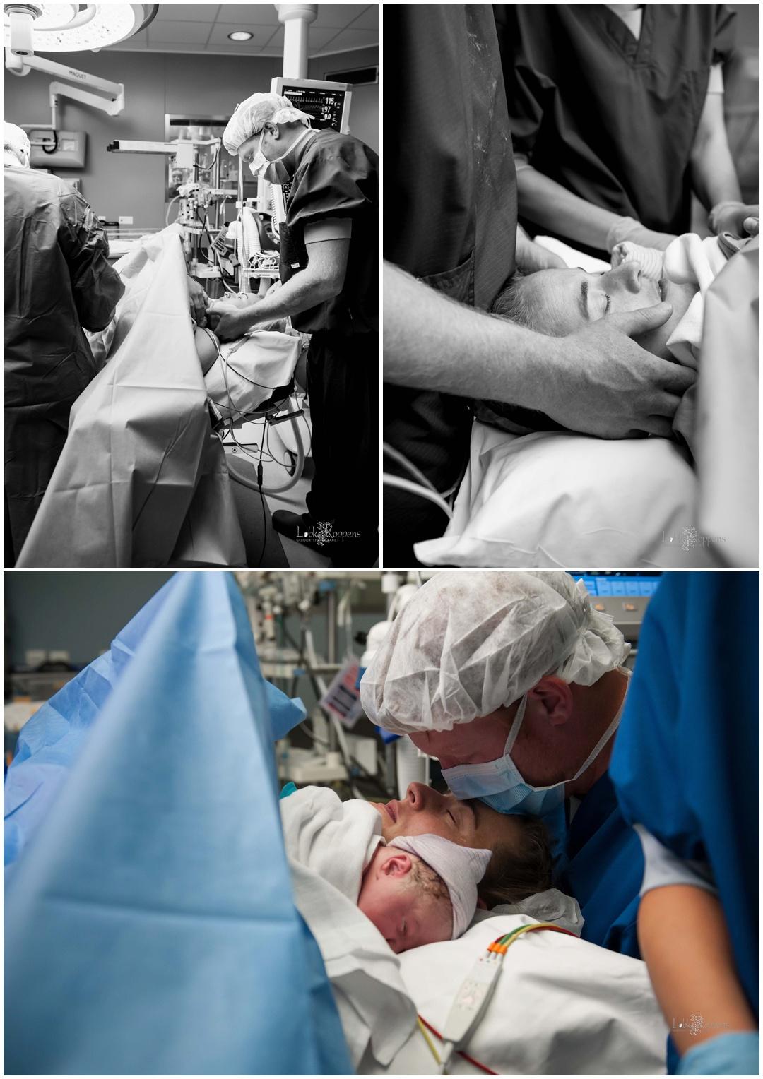 Geboortefotografie keizersnede